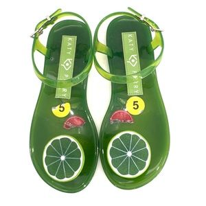 """Katy Perry new """"lime"""" silicon size 5 sandals"""